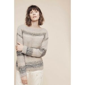 New ANTHROPOLOGIE Alis Striped Pullover Sweaters